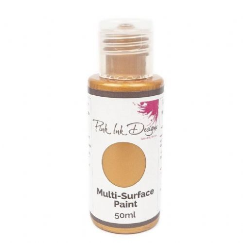 Pink Ink Multi Surface Paint Vintage Gold Lustre 50ml